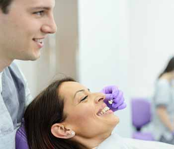 Dr. Munira Lokhandwala may encourage patients to think about porcelain veneers when they want to enhance the teeth near the front of the smile which may be imperfect.