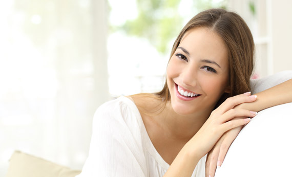 Young woman with perfect teeth